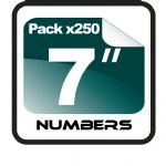 "7"" Race Numbers - 250 pack"